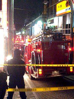 竹下通りで火災発生