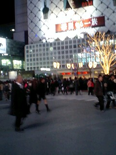 渋谷もお正月休みモード?