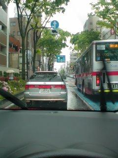 雨の日ドライブ
